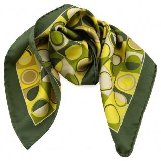 Damen Nickituch in Seide grün gelb sandgelb beige 53 x 53- Tuch Halstuch Schal