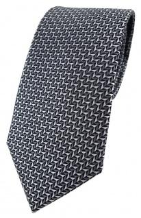 TigerTie Designer Krawatte in silber schwarz grau gemustert