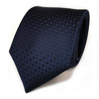 TigerTie Seidenkrawatte blau dunkelblau schwarzblau kariert - Krawatte Seide