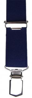 schmaler Hosenträger marine dunkelblau Uni mit Clip - verstellbar 75 bis 120 cm - Vorschau 3