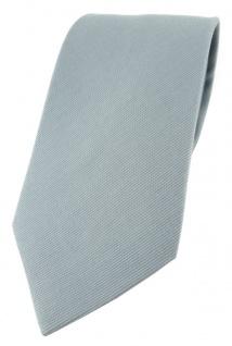 TigerTie Designer Krawatte in grau Uni - 100% Baumwolle - Krawattenbreite 8 cm