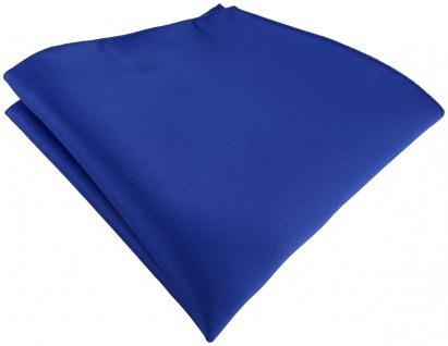 TigerTie Satin Einstecktuch in dunkles royalblau einfarbig Uni -Größe 26 x 26 cm