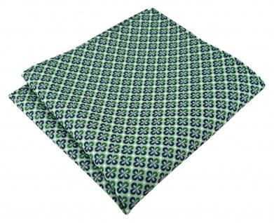 TigerTie Designer Einstecktuch in grün silber marine gemustert