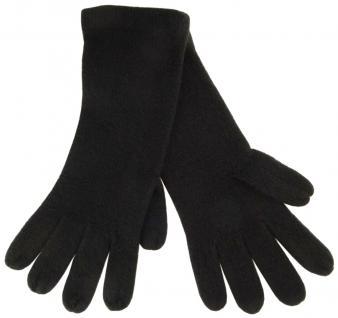 feine Strickhandschuhe in schwarz Stich braun Uni - Damen Handschuhe Größe M - Vorschau 2