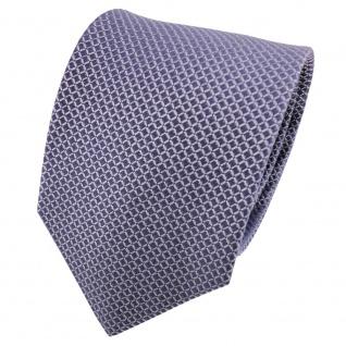 TigerTie Satin Seidenkrawatte blau fernblau graublau gemustert - Krawatte Seide