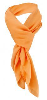 TigerTie Damen Chiffon Halstuch orange lachs Uni Gr. 90 cm x 90 cm - Schal