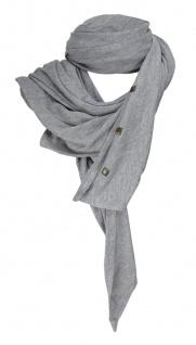 Dreieckstuch in grau einfarbig mit Nieten besetzt - Gr. 220 x 110 cm