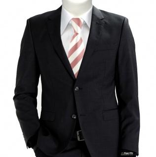 TigerTie Designer Krawatte in rosa weiss gestreift - Vorschau 5