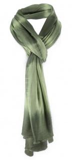 Schal in grün olivegrün Batikoptik gemustert - Gr. 180 x 55 cm