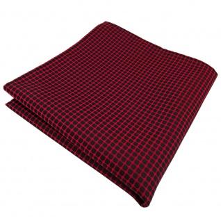 TigerTie Einstecktuch in rot dunkelrot schwarz gemustert - Tuch 100% Polyester