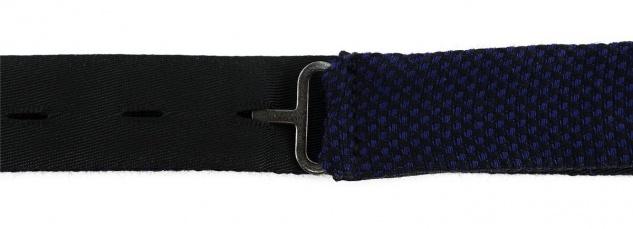 TigerTie Plastron Pique 2tlg Krawatte fertig gebunden in marine uni gemustert - Vorschau 4
