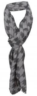TigerTie Designer Schal in grau anthrazit gemustert - Größe 180 x 40 cm