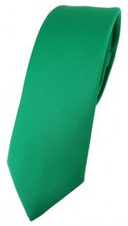 schmale TigerTie Designer Krawatte in grün einfarbig Uni - Tie Schlips