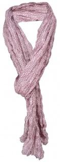 gecrashter TigerTie Seidenschal in rosa grau gepunktet - 100% Seide -180 x 50 cm