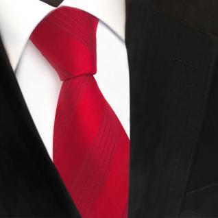 Designer Seidenkrawatte rot karminrot gestreift - Krawatte Seide Silk - Vorschau 3