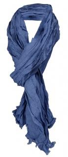 gecrashter TigerTie Schal in blau jeansblau gemustert- Gr. 200 x 100 cm