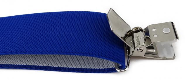 TigerTie Unisex Hosenträger mit 3 extra starken Clips - blau royal Uni - Vorschau 4