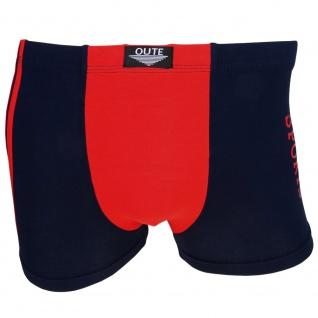Shorts Boxershorts Unterhose Retro Pants dunkelblau-rot Baumwolle Gr. L