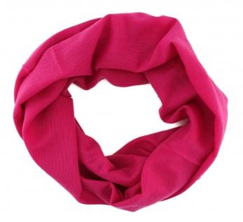 Multifunktionstuch pink rosa uni -Tuch - Schal -Schlauchtuch -Wundertuch