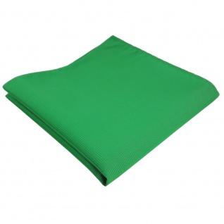 TigerTie Einstecktuch grün knallgrün leuchtgrün Uni Rips einfarbig - Polyester - Vorschau