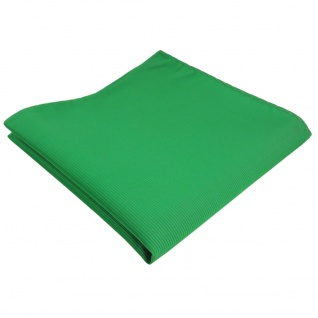 TigerTie Einstecktuch grün knallgrün leuchtgrün Uni Rips einfarbig - Polyester