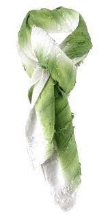 Halstuch in grün weiss gestreift - Schal 100% Baumwolle - Tuch Gr. 100 x 100 cm