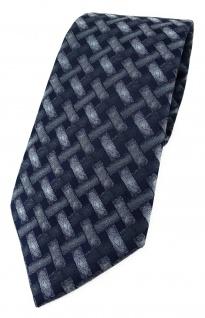 TigerTie Designer Krawatte in grau anthrazit schwarz - Motiv Flechtmuster