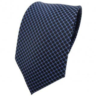 TigerTie Krawatte blau türkis schwarz gemustert - Binder Tie