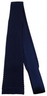 Blick. elementum - Strickkrawatte in marine einfarbig Uni - Krawatte 100% Seide