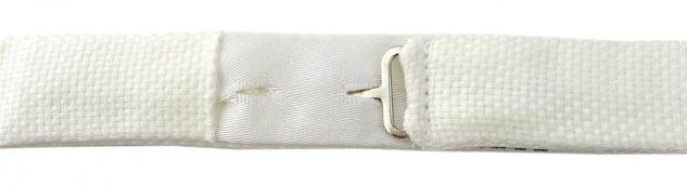 TigerTie Plastron Pique 2tlg Krawatte fertig gebunden in creme uni gemustert - Vorschau 4
