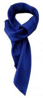 TigerTie Damen Chiffon Halstuch blau royalblau Uni Gr. 80 cm x 80 cm - Schal
