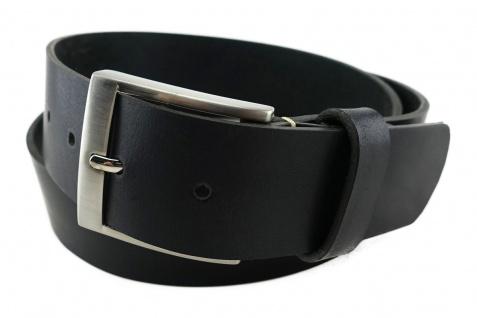 TigerTie - hochwertiger Ledergürtel in schwarz - Bundweite 110 cm - 40 mm breit