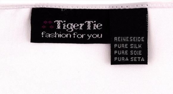 TigerTie Satin Seideneinstecktuch in weiss einfarbig - Einstecktuch 100% Seide - Vorschau 2