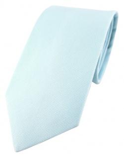 TigerTie Designer Krawatte hellblau Uni - 100% Baumwolle - Krawattenbreite 8 cm