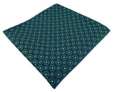 TigerTie Designer Einstecktuch in grün blau silber schwarz gemustert
