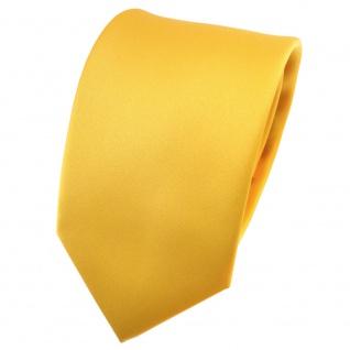 TigerTie Satin Krawatte gelb maisgelb Uni - Schlips Binder Tie