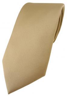 TigerTie Designer Krawatte in dunkelgold einfarbig Uni - Tie Schlips