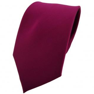 TigerTie Krawatte violett bordeauxviolett einfarbig 100 % Polyester - Binder Tie