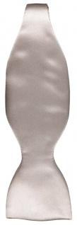 TigerTie Selbstbinder Seidenfliege grau silber Uni - Querbinder 100% Seide + Box