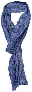 gecrashter TigerTie Seidenschal blau marine gepunktet - 100% Seide - 180 x 50 cm