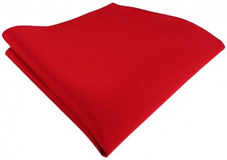 TigerTie Satin Einstecktuch in rot einfarbig Uni - Größe 26 x 26 cm