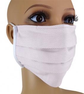 TigerTie Gesichtsmaske mit Nasenbügel Pique rosa gemustert mit Gummiband