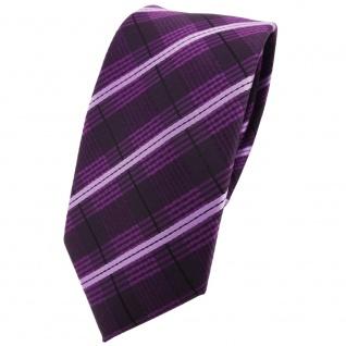 Schmale TigerTie Krawatte lila violett flieder schwarz gestreift - Tie Binder