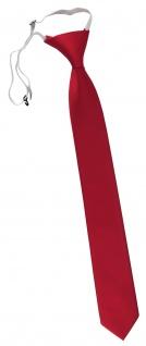 XXL TigerTie Security Sicherheits Krawatte in verkehrsrot knallrot einfarbig Uni