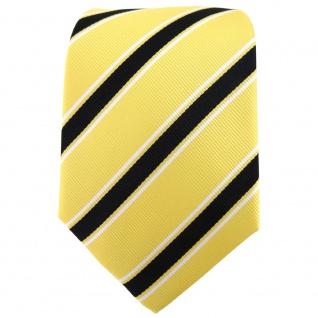 TigerTie Designer Krawatte gelb schwarz weiß gestreift - Binder Tie - Vorschau 2