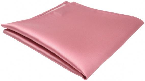 TigerTie Einstecktuch in rosa hellrosa einfarbig Uni - Größe 26 x 26 cm