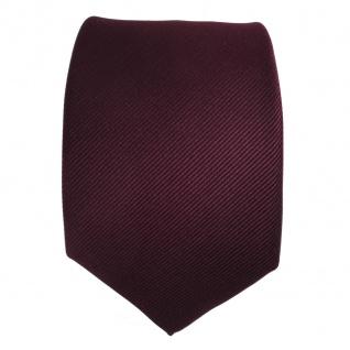 TigerTie Seidenkrawatte Uni Rips dunkles Bordeaux Rot - Krawatte Tie Seide Silk - Vorschau 2