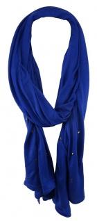 TigerTie Schal in royal blau einfarbig mit Nieten gemustert