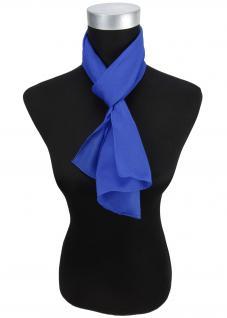 Sehr feiner Chiffon Schal in blau royalblau Uni - Gr. 130 x 30 cm - Halstuch - Vorschau