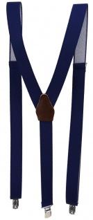 schmaler Hosenträger marine dunkelblau Uni mit Clip - verstellbar 75 bis 120 cm - Vorschau 2